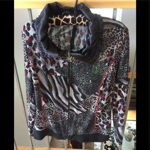 Pretty Bali zip up sweater